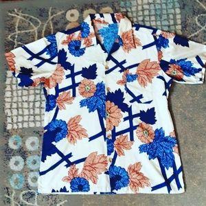 Mens's vintage 1970's trippy Hawaiian shirt